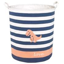 Sanjiaofen Large Storage Bins,Canvas Fabric Laundry Basket Collapsible Storage Baskets for Home,Office,Toy Organizer,Home Decor(Dinosaur)