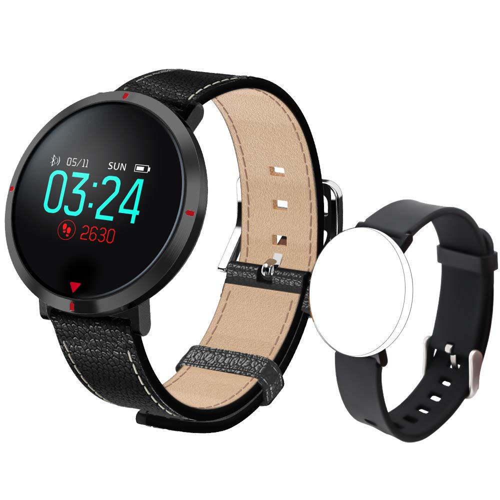 maxtop Smart Watches for Women - Heart Rate Monitor Blood Pressure Sleep Monitor Fitness Tracker Compatible with Android and iOS - Black