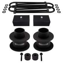 """Supreme Suspensions - 3"""" Front + 2"""" Rear Lift for Ford F-250 F-350 [4x4] Steel Spring Spacers + Billet Lift Blocks + U-Bolts + Bump Stop Spacers   PRO KIT for Super Duty with Overload Springs"""