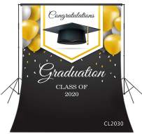 LB 5x7ft Graduation Backdrop Class of 2020 Congrats Grad Backdrops for Photography Congratulation School Senior Prom Ceremony Dress-up Party Kids Photo Booth Studio Props