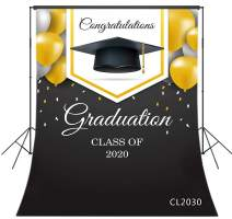 LB 5x7ft Graduation Backdrop Class of 2020 Congrats Grad Backdrops for Photography Congratulation School Senior Prom Ceremony Dress-up Party Kids Photo Booth Studio Props
