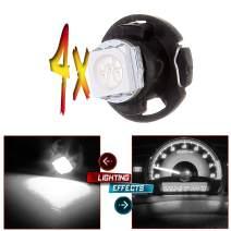 cciyu Climate Heater Control LED Light Bulbs Kit T4.7 Neo Wedge LED Lights 12mm Bright Blue T5 Neo Wedge Bulb,4Pack White