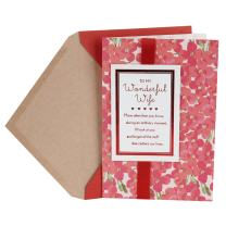 Hallmark Valentine's Day Card for Wife (Pink Flowers)
