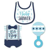 Big Dot of Happiness It's a Boy - DIY Shaped Blue Baby Shower Cut-Outs - 24 Count