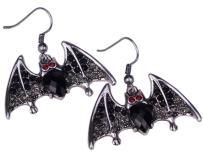 YACQ Women's Bat Dangle Earrings - Halloween Costume Accessories Jewelry - Lead & Nickle Free - 1-1/2 L X 1-1/2 W Inches