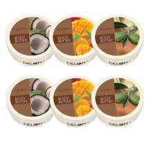 DELON Intense Moisturizing Body Butter - 6.9 Oz (Set of 6) (2 Coconut, 2 Mango, 2 Olive)