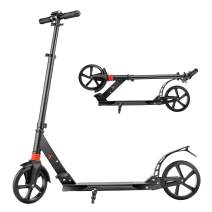 WeSkate Scooter for Adults/Teens, Scooters for Kids 10 Years and up, Adjustable Height Kick Scooter with Kickstand and Big Wheels 220LB Max Load