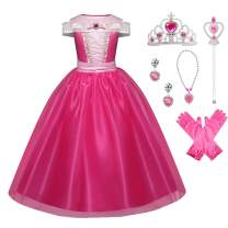 Little Girls Princess Costume Halloween Party Birthday Dress Up Cosplay