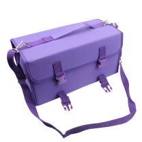 NIUTOP 120 Slots Marker Pen Case Markers Carrying Bag Holder for Primascolor Marker and Copic Sketch Marker, Permanent Paint Marker, Dry Erase Marker, Repair Marker Pen, Color Highlighter (Purple)