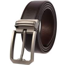 Beatrbior Men's Belt Casual Leather Belt Golf Belt Leather Reversible Belt Black Brown Dress Belt for Men