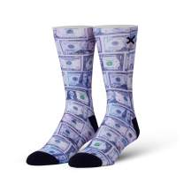 Odd Sox, Unisex, Money, Bills Currency, Crew Socks, Novelty Funny Cool Silly