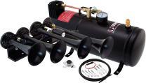 Vixen Horns Train Horn Kit for Trucks/Car/Semi. Complete Onboard System- 150psi Air Compressor, 1 Gallon Tank, 4 Trumpets. Super Loud dB. Fits Vehicles Like Pickup/Jeep/RV/SUV 12v VXO8210/4124B