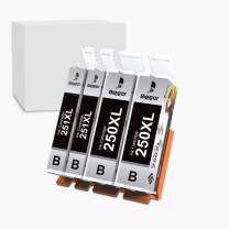 Bigger Compatible Ink Cartridge Replacement for Canon PGI 250 XL PGI-250XL CLI 251 XL CLI-251XL to use with PIXMA MX922 MG7520 (2 Large Black, 2 Small Black, 4-Pack)