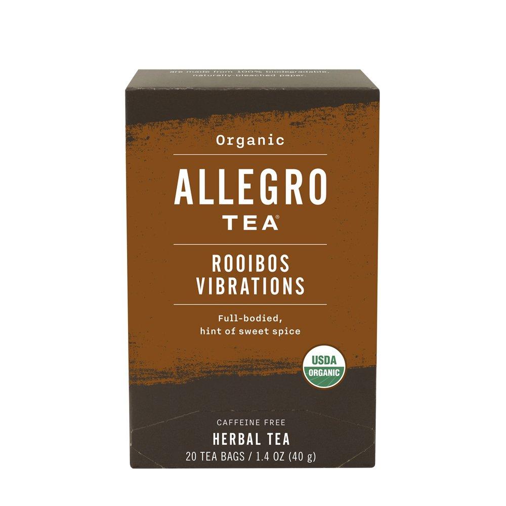 Allegro Tea, Organic Rooibos Vibrations Tea Bags, 20 ct