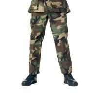 Camouflage Military BDU Pants, Army Cargo Fatigues (Woodland Camouflage, Size Medium/Long)