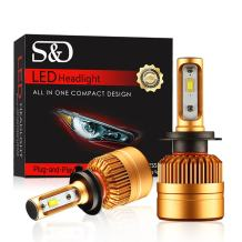 Super Bright H7 LED Headlight Bulbs, High Power 8000Lm 6000K Cool White Lamps Replacement All-in-One Conversion Kits