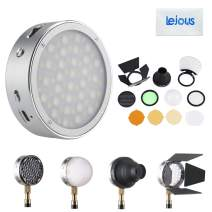 Godox R1 RGB Full Color Round Mini Creative Light, CRI 98 TLCI 97 2500K-8500K Dimmable LED Video Light with Godox AK-R1 Accessories Kit for More Dramatic Lighting Effectives