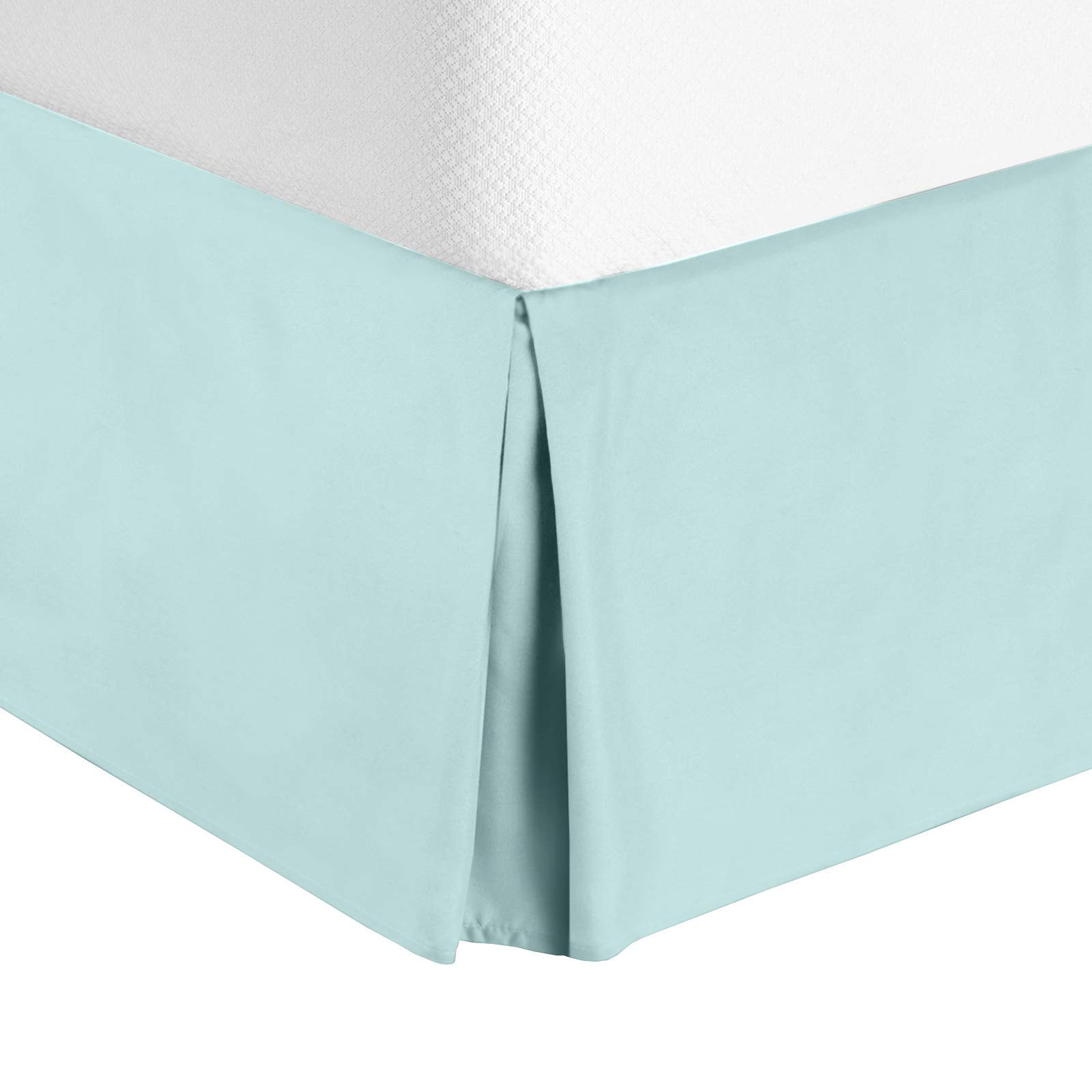 Nestl Bedding Bed Skirt - Soft Double Brushed Premium Microfiber Dust Ruffle - Luxury Pleated Dust Ruffle, Hotel Quality Sleek Modern Bed Skirt, Easy Fit with 14 in Tailored Drop, Full, Baby Blue