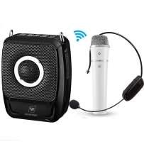 Wireless Portable PA Speaker Microphone Set, 25W Mini PA System Karaoke Machine Amp Support 5.0 Bluetooth/TWS/TF/USB/AUX, Wireless Voice Amplifier Loudspeaker for Classroom, Public Speaking, Meeting
