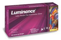 "Aurelia Luminance Latex Glove, Powder Free, 9.4"" Length, 5 mils Thick, Large (Pack of 100)"