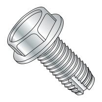 """Steel Thread Cutting Screw, Zinc Plated Finish, Hex Washer Head, Type 1, #12-24 Thread Size, 1/2"""" Length (Pack of 50)"""