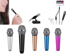 Mini Microphone with Omnidirectional Stereo Mic for Voice Recording,Chatting and Singing on iPhone,Android (Black)