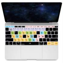 "HRH Fruity Loops FL Studio Hotkey Silicone Keyboard Cover Skin for MacBook New Pro 13""A1708 A1988 No Touch Bar 2018 2017 2016 Release and MacBook 12""A1534 (2015)&A1931(2018)USA Layout Protective Skin"