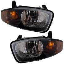 Replacement Driver and Passenger Set Headlights Compatible with 2003 2004 2005 Cavalier 22707274 22707273