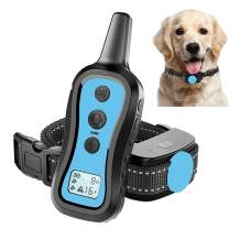 Perwin Dog Training Collar with Remote - Dog Shock Collar 1000ft Range Rainproof Dog Electric Collar with Beep Vibration Safety Shock for Small Medium Large Dog