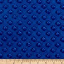 Fabric Royal Blue Minky Plush Dot Yard