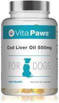 Cod Liver Oil for Dogs 550mg   180 Soft Gel Capsules   Support The Health of The Skin and Coat   Manufactured in The UK