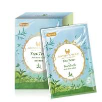 ANNIE'S WAY Fantasy Land Face Facial Mask Sheet, Brightening Soothing Stress Relieving Moisturizing Skin for Better Sleep Suitable for All Skin Types 10 Sheets Pack(Tea Tree Burdock Anti-Acne)