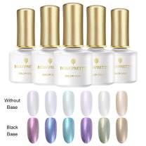 Born Pretty Pearl Glitter Gel Polish Set Shiny Shell Chameleon Glimmer Polish Nail Effect Nail Art 6ml 6 Bottles