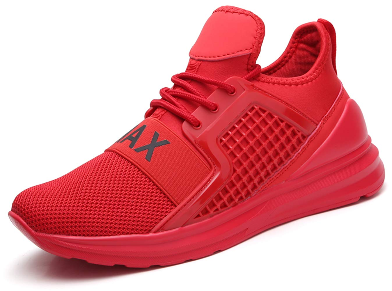 Ezkrwxn Men mesh Sport Walking Shoes Breathable Comfort Fashion Casual Tennis Trail Sneakers Gym Jogging Running Trainers Red Size 11 (7058-red-45)