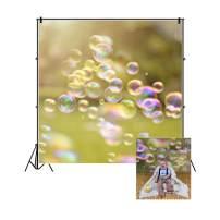 Baocicco Vinyl 7x7ft Summer Bubbles Backdrop Photography Background Colorful Bubbles Green Bokeh Backdrop Room Decors Wallpaper Backdrop Children Baby Adults Portraits Photo Studio