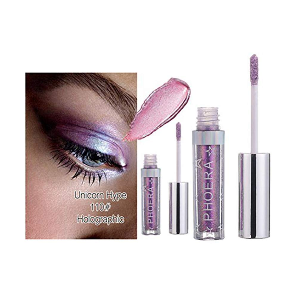 Clearance Promotion 12 Color PHOERA Magnificent Metals Glitter and Glow Liquid Eyeshadow (J)