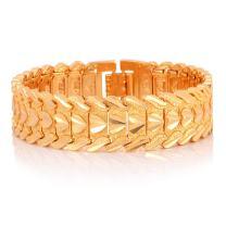 U7 Men Wrist Link Bracelet Pumk Jewelry Stainless Steel 15MM Chunky Chain Bracelet Wristband, with Detaching Device