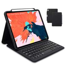 Maxace iPad Pro 11 Keyboard Case for iPad Pro 11 2018, Supports 2nd Gen Pencil Charging, Smart Bluetooth Wireless Keyboard Cover with Auto Sleep Wake, Waterproof iPad Pro 11 Keyboard Case