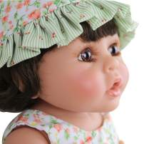 PURSUEBABY 16 Inch Reborn Baby Dolls Full Body Vinyl Baby Dolls Girl Chocolate Baby Reborn Toddler Girls Dolls for Kids & Collectors Birthday Gift with Magnetic Pacifier and Gift Box Set