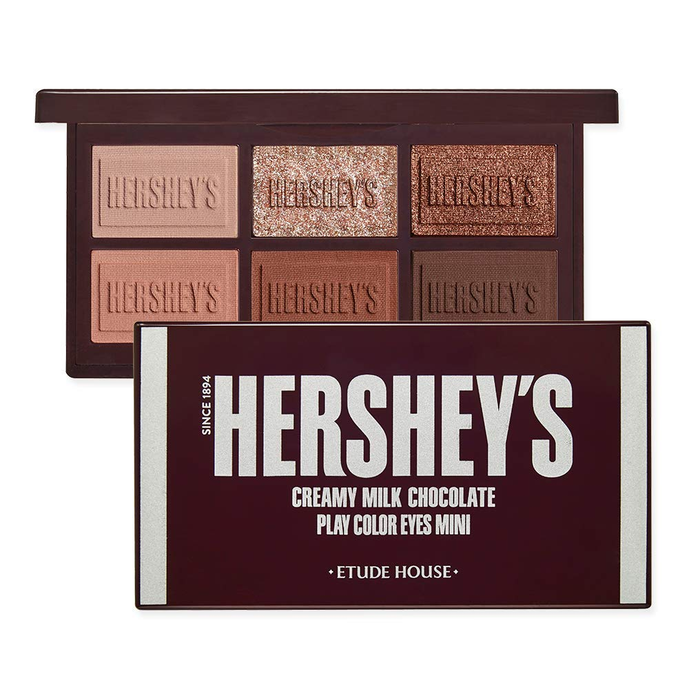 ETUDE HOUSE Play Color Eyes Mini HERSHEY #Original - Eyeshadow palette (Featuring Chocolate Brown Shades) - Special Limited edition