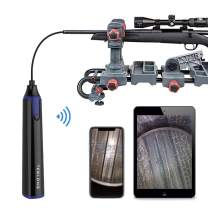 Teslong Rifle Borescope for iPhone and Android, 0.2inch Wireless Gun Barrel Borescope with WiFi Adapter, Side-View Mirror and 36 Inches Semi-Rigid Cable