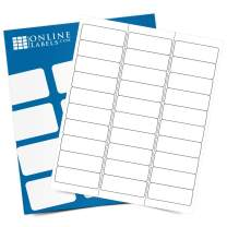 Customizable Address & Mailing Labels - 2.625 x 1 - Permanent, White Matte - FBA Inventory, SKU Labels - 30-Up - Pack of 300 Labels, 10 Sheets - Inkjet/Laser Printers - Online Labels