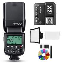 Godox TT600 2.4G HSS Thinklite Camer Flash Speedlite Built in Godox X System Receiver Wireless GN60 Master/Slave Camera with X2T-C Trigger Transmitter Compatible Canon Camera
