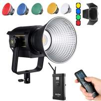 Godox VL150 LED Video Light, 150W 5600K Daylight-Balanced Bowens Mount, CRI 96 TLCI 95, 61000Lux@1m, Bluetooth and Wireless Radio Remote, with V-Mount Plate Controller Box
