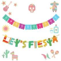 LaVenty Set of 2 Mexican Party Decoration Fiesta Party Decoration Fiesta Banner Cactus Banner Fiesta Party Supplies Wedding Birthday Baby Shower