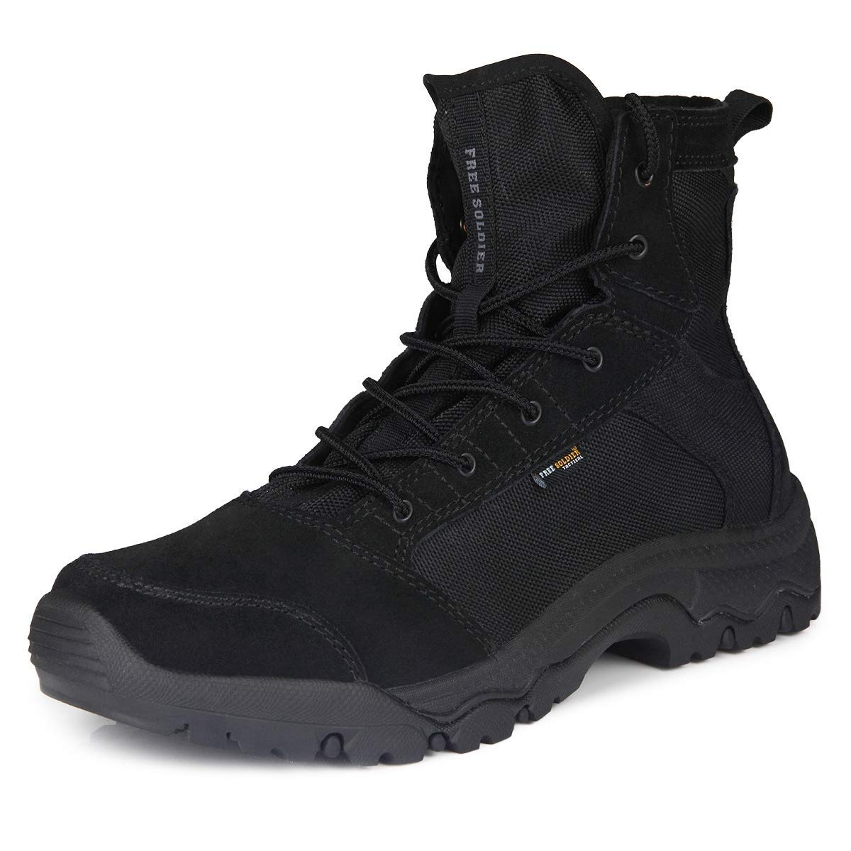 FREE SOLDIER Men's Work Boots 6 inch Lightweight Breathable Military Tactical Desert Boots for
