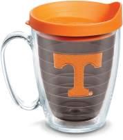 Tervis 1084421 Tennessee Volunteers Logo Tumbler with Emblem and Orange Lid 16oz Mug, Quartz