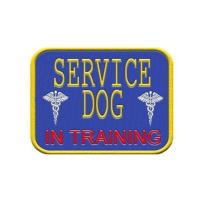 """""""Service Dog in Training"""" - Sew On Patch for Service Dog Vest or Harness"""