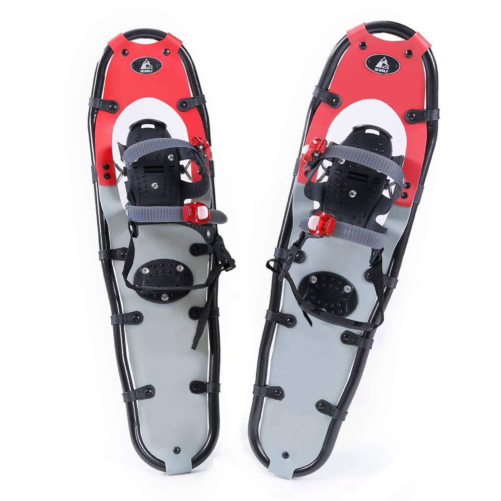 Hewolf Snow Shoes with Adjustable Ratchet Bindings for Women Men 24 inch/30 inch/36 inch