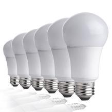 TCP LA950KND6 60 Watt Equivalent LED Light Bulbs Energy Efficient (9W) | Non-Dimmable A19 Shape E26 Medium Base, Pack of 6 Daylight, 6 Lamps